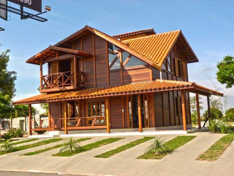 Casa de madeira pré-fabrica obra 37