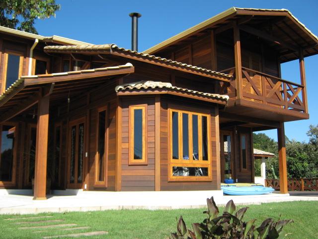 Casa de madeira pré-fabrica obra 38