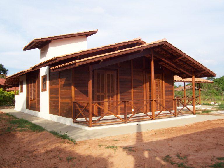 Casa de madeira pré-fabrica obra 28