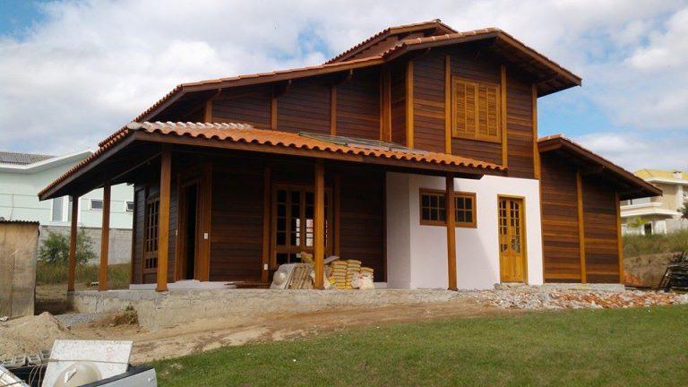 Casa de madeira pré-fabrica obra 29