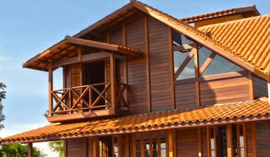 casa de madeira pré-fabricada brasil