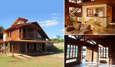projetos de casa de madeira pré-fabricada
