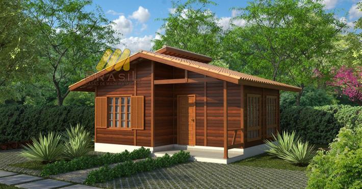 projeto cada de madeira 1 quarto