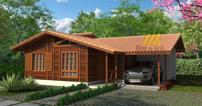 projeto casa de madeira 3 quartos