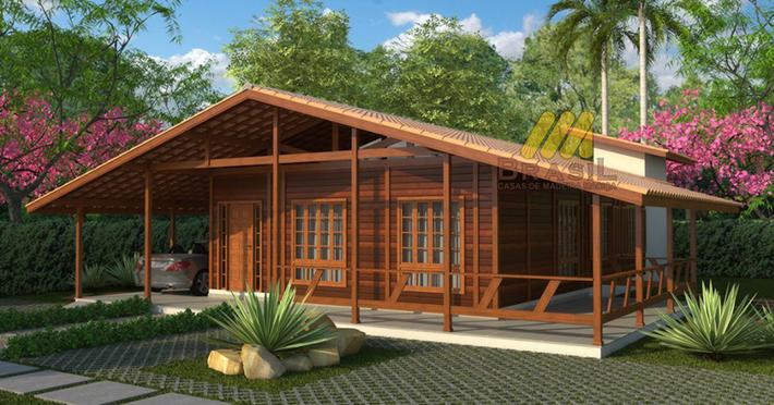 projeto casa de madeira 4 quartos