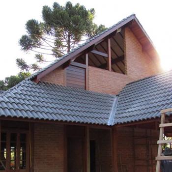 casa pré-fabricada tijolo a vista