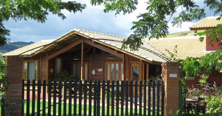 casa de madeira pré-fabricada ecológica