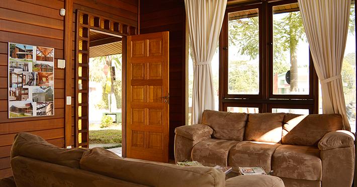 eficiência térmica em casa de madeira pré-fabricada