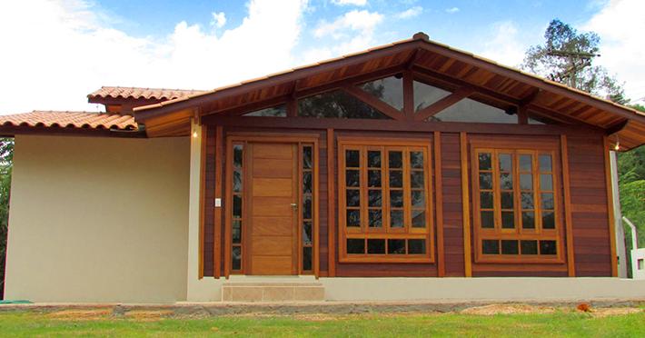 umidade casas de madeira pré-fabricadas