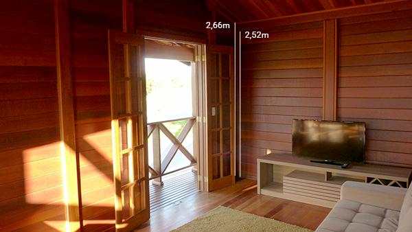 pé-direito mínimo casa de madeira