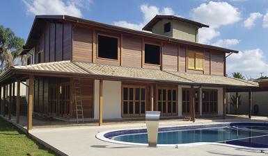 Obras em execução da Brasil Casas de Madeira – Setembro / 2018