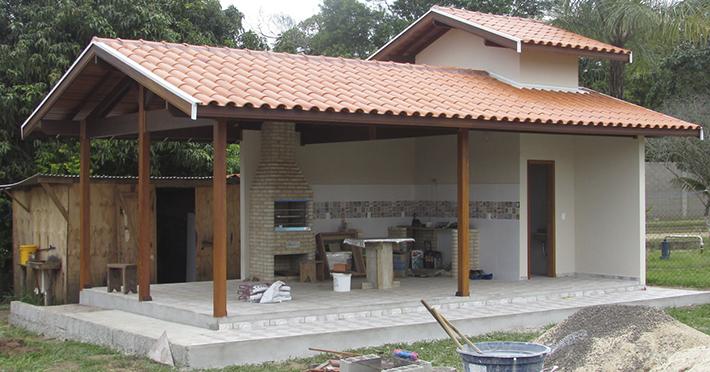 área gourmet casa de madeira em Santa Maria da Serra – SP