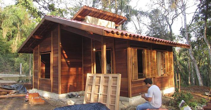 Casa de madeira pré-fabricada Pindamonhangaba