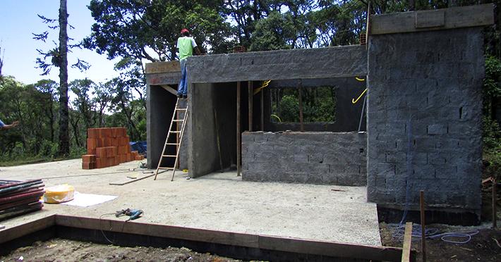 Projeto de casa de madeira 175,80m² com execução em São Bento do Sapucaí – SP