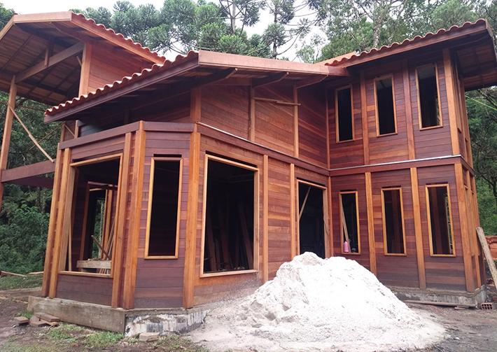 casa de madeira pré-fabricada são bento do sapucaí