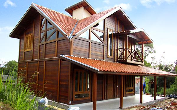 casa de madeira pré-fabricada em Ibiúna - SP