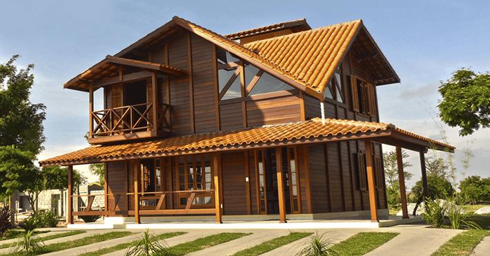 casa de madeira pré-fabricada taubaté