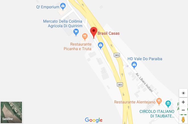 como chegar mapa showroom brasil casas taubaté sp