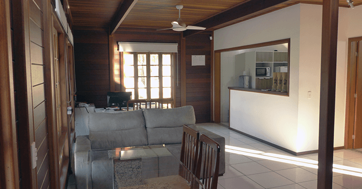 sala de estar casa pré-fabricada