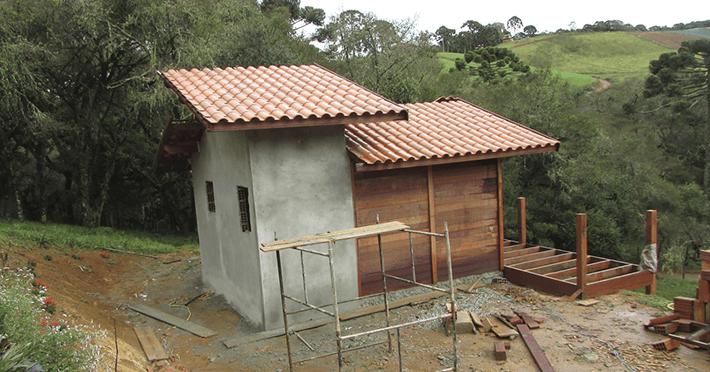 Projetos de chalés de 26,25m² com execução em Gonçalves – MG