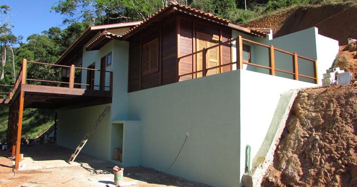 casa de madeira em domingos martins