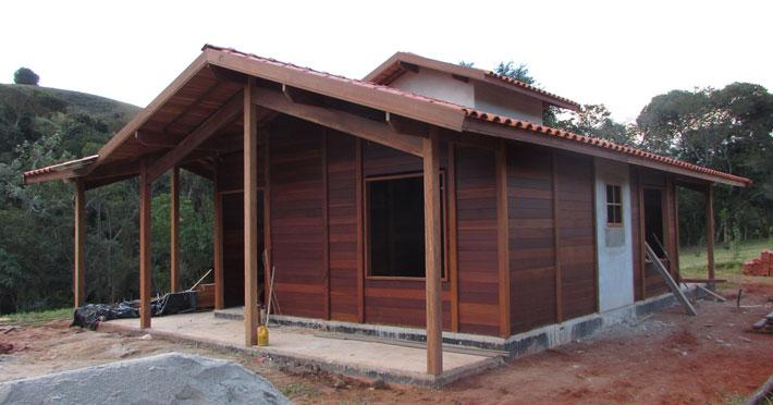 casa de madeira pré-fabricada em Taubaté – SP