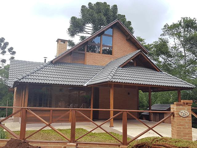 Casa de madeira pré-fabrica obra 51