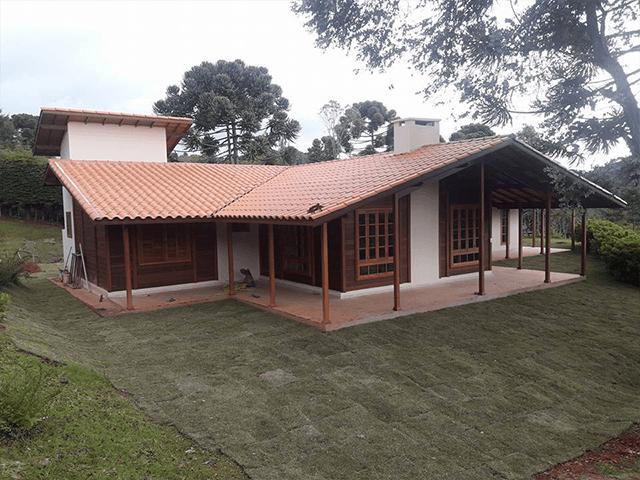 Casa de madeira pré-fabrica obra 52