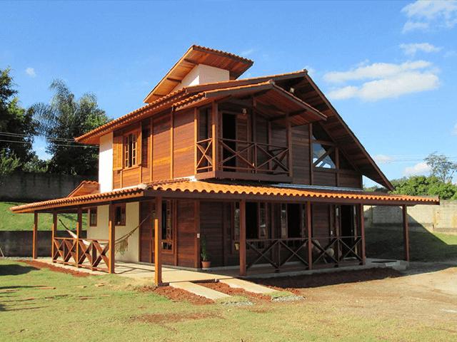 Casa de madeira pré-fabrica obra 54