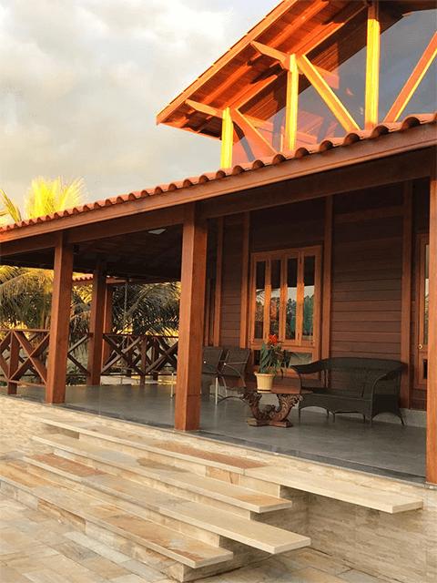 Casa de madeira pré-fabrica obra 64