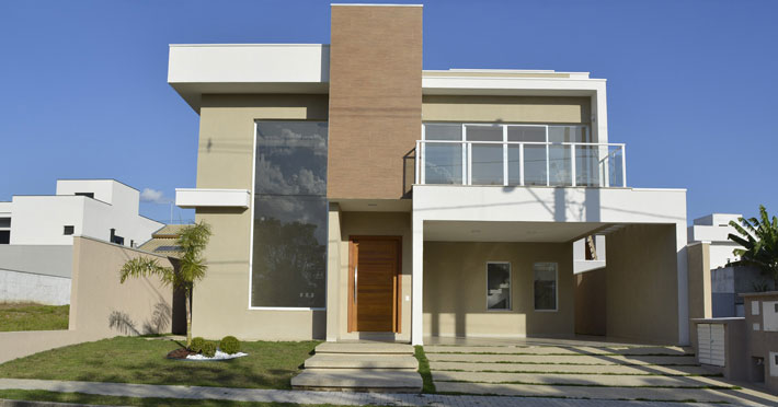 casa de alvenaria telhado em platibanda