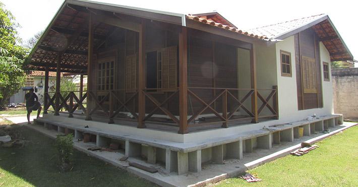casa de madeira maciça em Jundiaí – SP