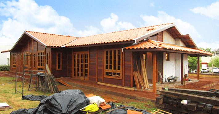 casa de madeira pré-fabricada em Barretos – SP