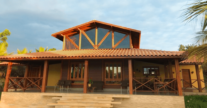 casa de madeira pre fabricada macica