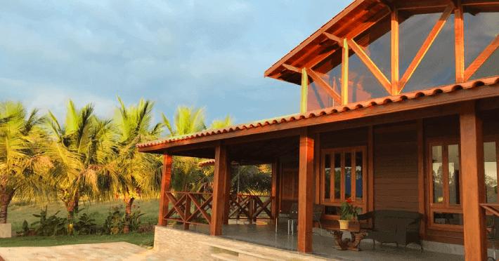 casa de madeira pre fabricada 3 quartos