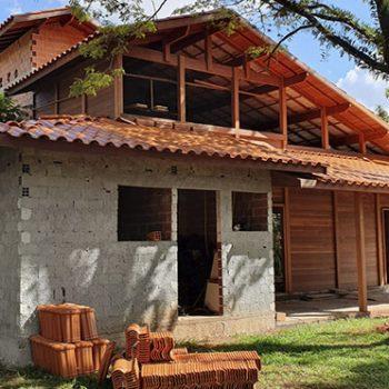 Algumas obras em execução da Brasil Casas de Madeira