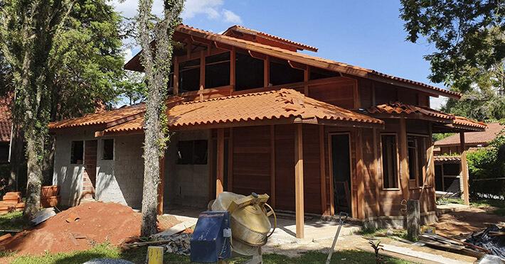 casa de madeira em Araçariguama – SP