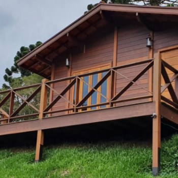chales concluídos casa de madeira