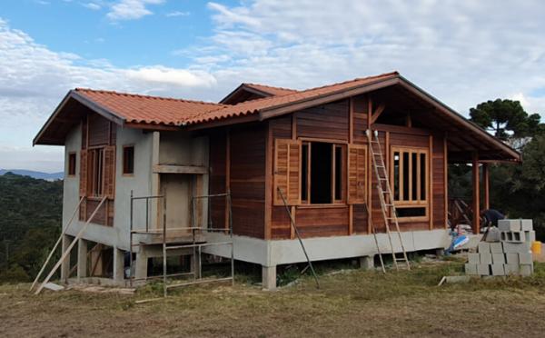 obras maio brasil casas de madeira