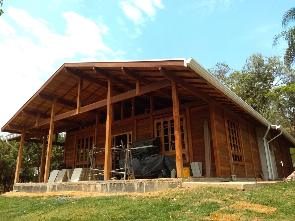projeto casa de madeira Campinas-SP
