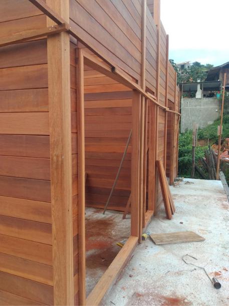 projeto em ilha bela - sp etapa construcao de paredes e cobertura