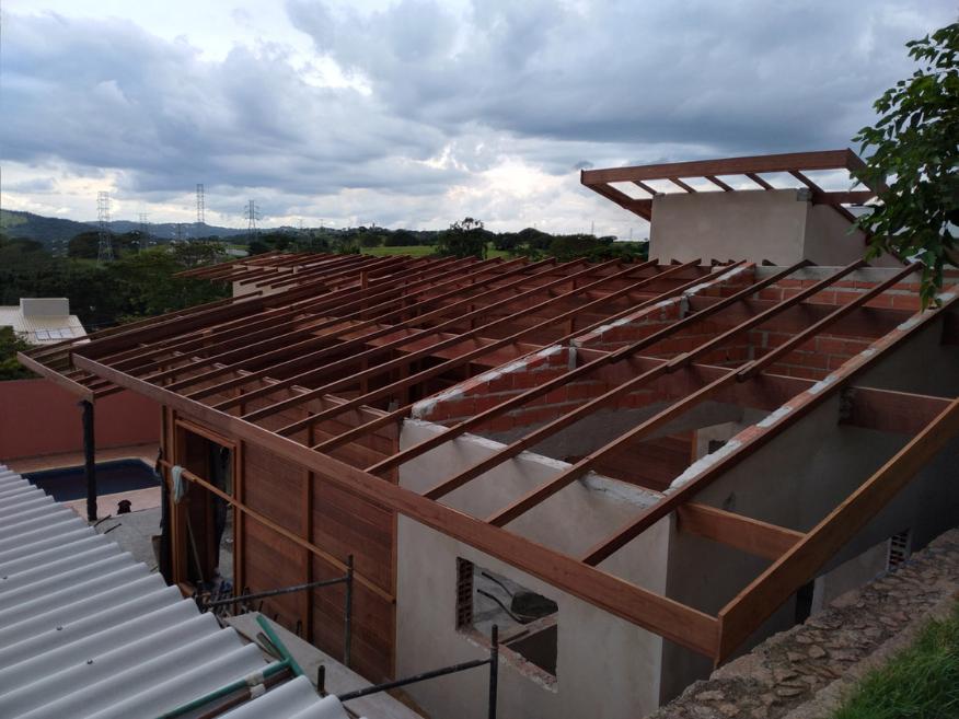 projeto em mogi mirim - sp etapa construcao de paredes e cobertura