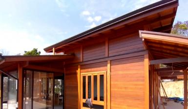 Casas de madeira maciça em construção pelo Brasil - Setembro - 2021